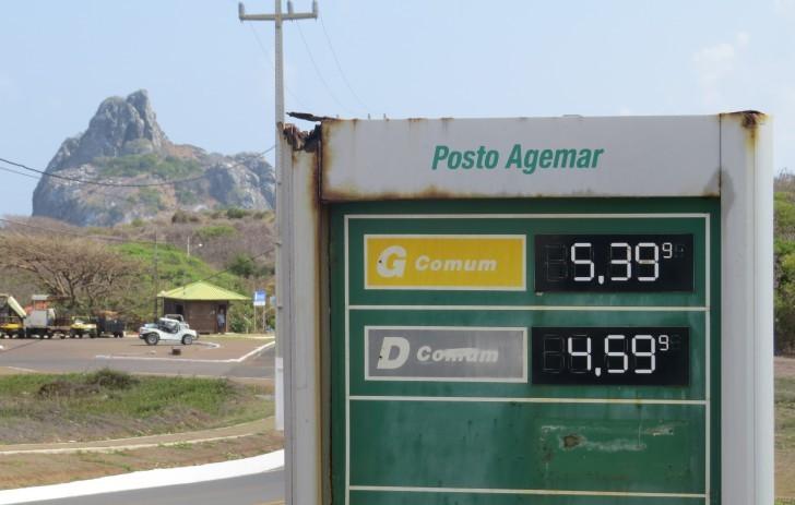 Preço da gasolina em fevereiro/2015 Fonte: G1  Fernando de noronha dicas