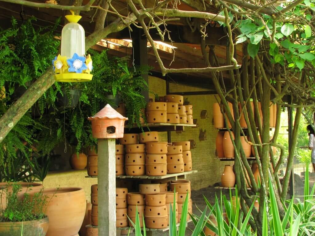 Itens de jardinagem no Viveiro