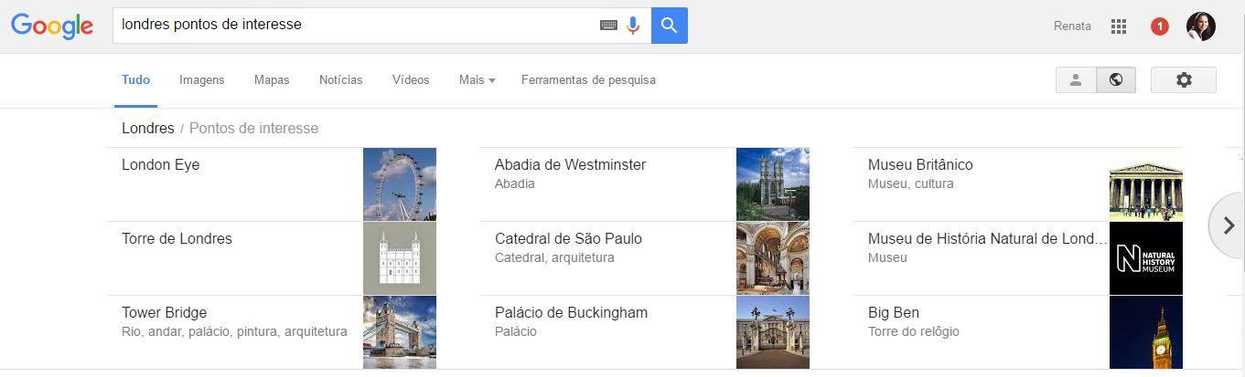 planejamento com google destinations