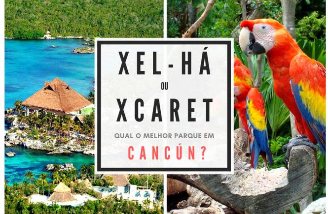 Xcaret ou Xel-há - melhor parque em cancun