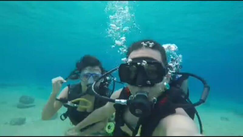 Mergulho em Cozumel - até minha filha topou!