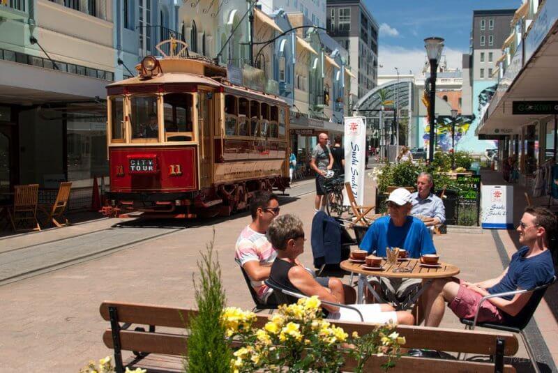 City Tour no trem - Uma das atrações imperdíveis de Christchurch.