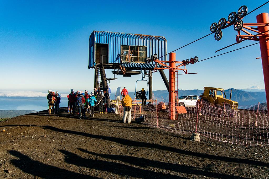 Teleférico para subir um pequeno trecho do vulcão - não está incluso nos passeios!