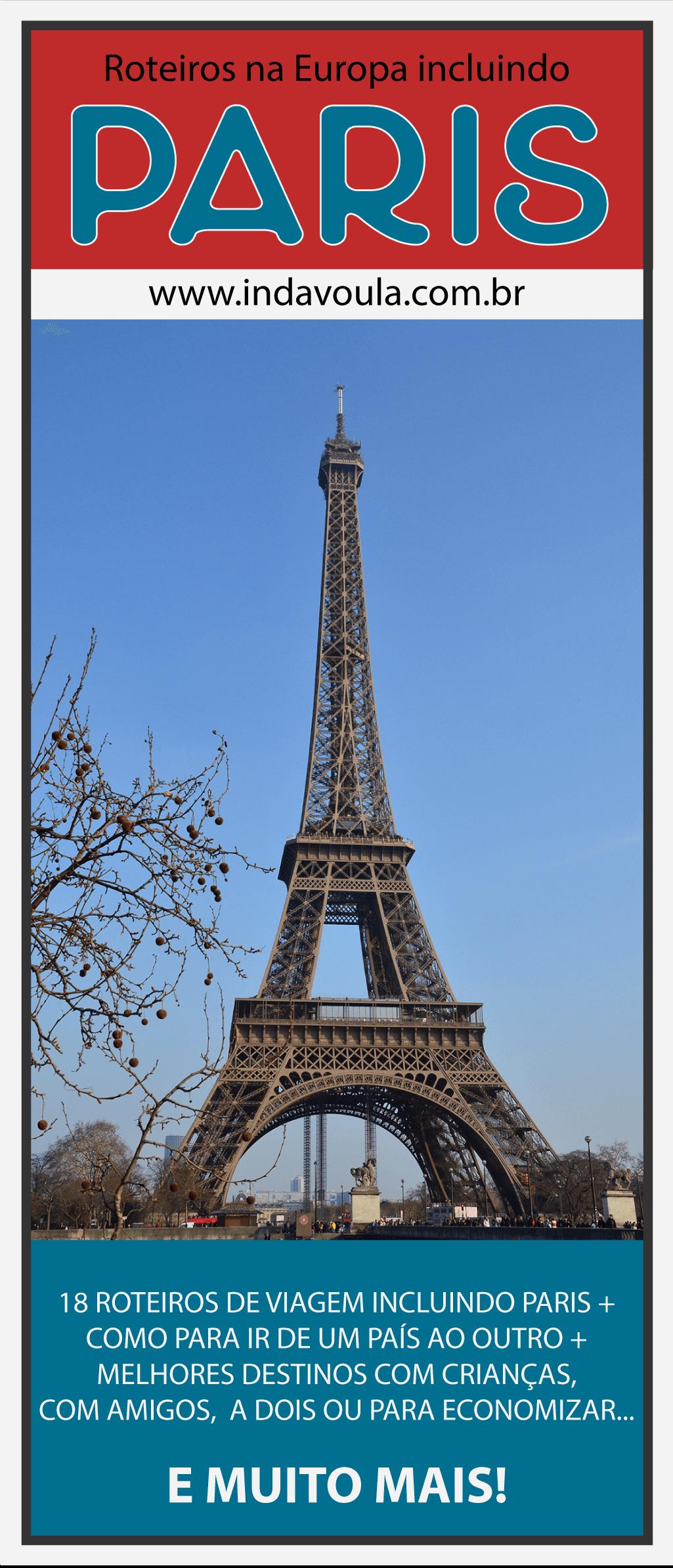 Com quais cidades devo combinar Paris em minha viagem pela Europa?