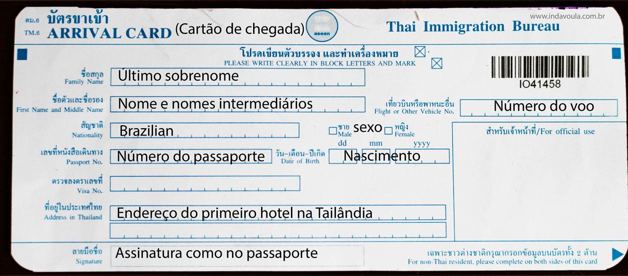 Como é a imigração na Tailândia?