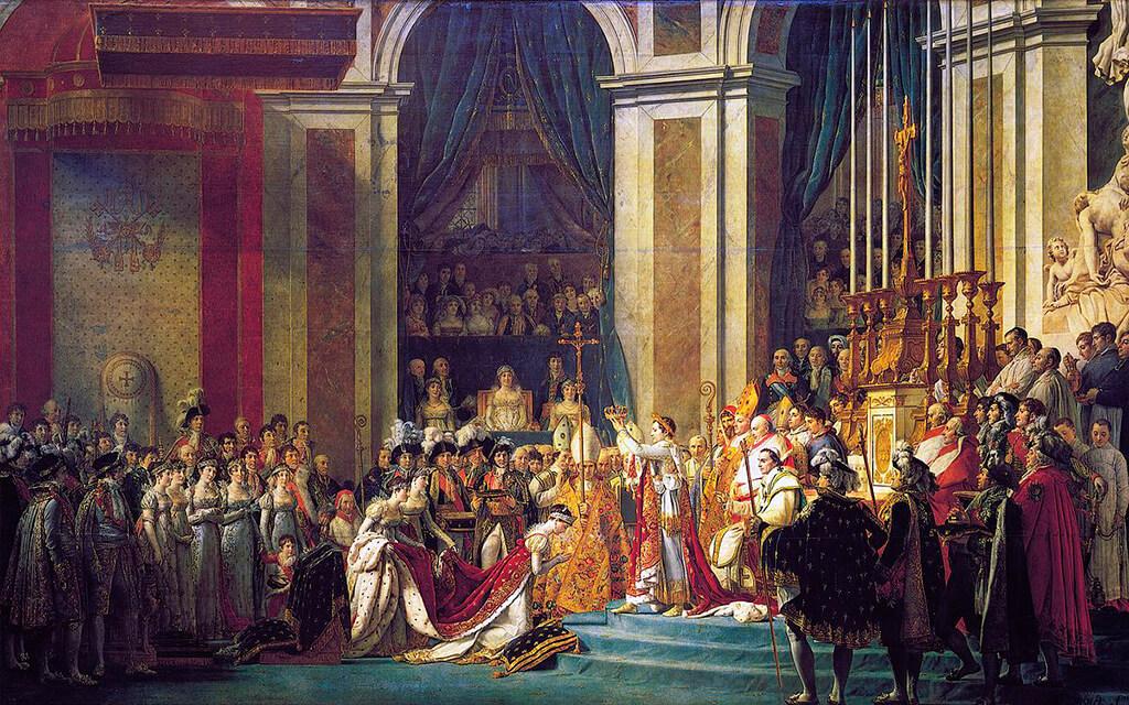 A Coroação de Napoleão, Paris - obras de arte mais famosas do mundo