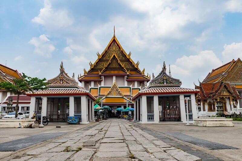 Templo na cidade de Bangkok, Tailândia