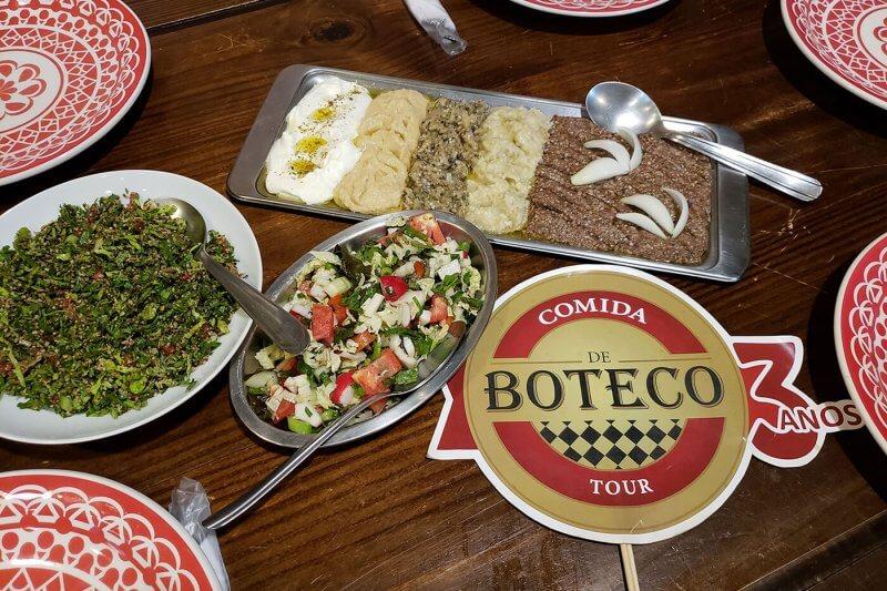 foto de pratos do Tour Comida de boteco
