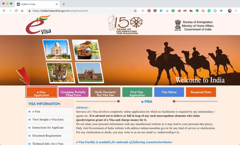 Visto para Índia online: Guia Passo-a-Passo para emitir o seu