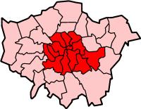 inner london dentro da grande Londres