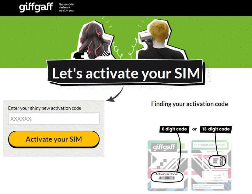 Chip de internet Londres e Europa: chip (gratuito) da Giffgaff
