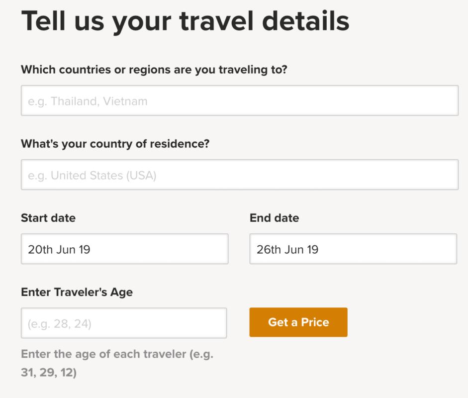 cotação de seguro viagem com cupom de desconto da world nomads