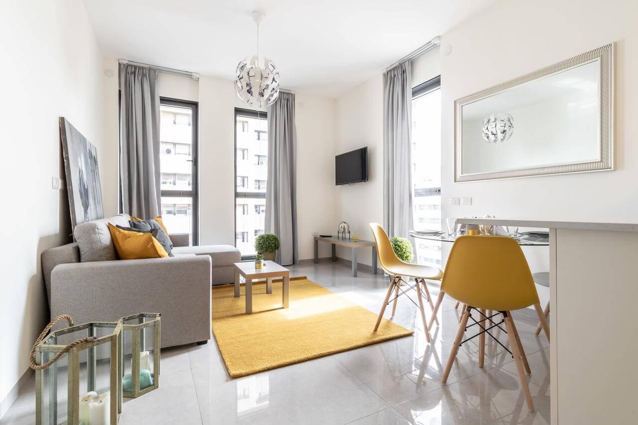 Apartamento em Jerusalém para hospedar 4 pessoas