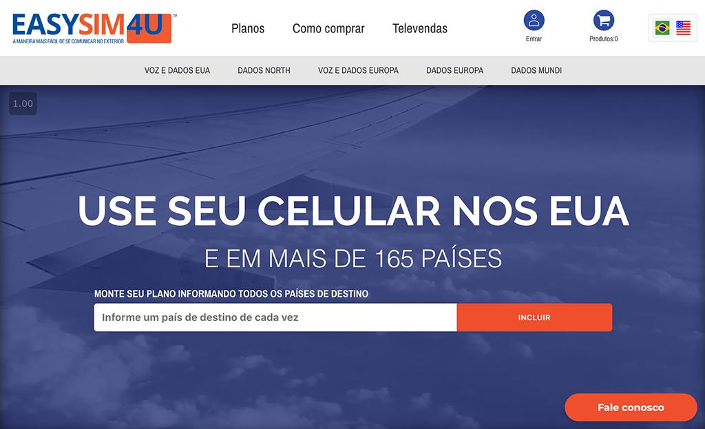 tela inicial da EasySim4U