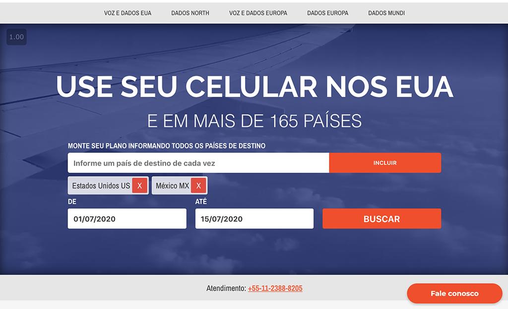 tela da EasySim4U com data e países que funciona o cupom de desconto