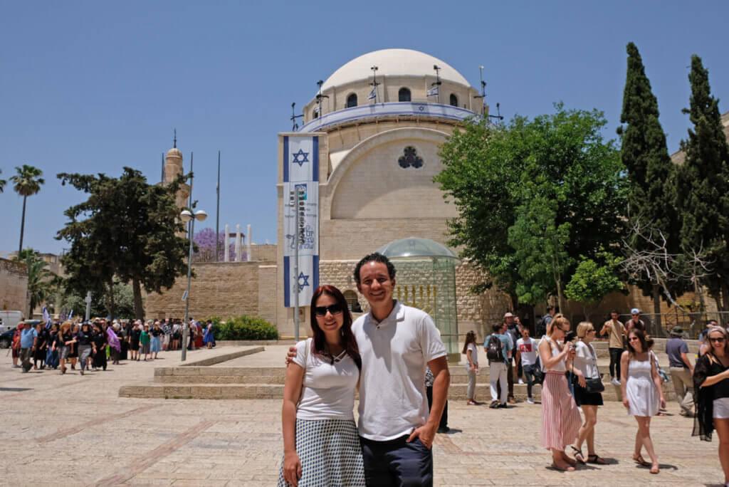 Mesquisa na cidade antiga de jerusalém