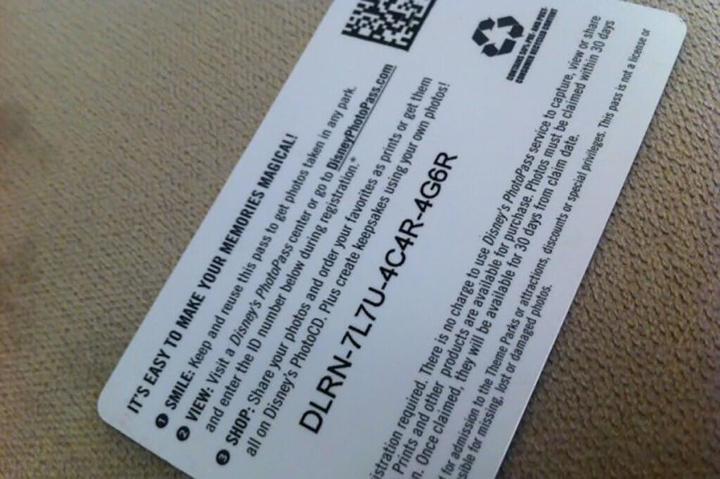 cartão disney photopass