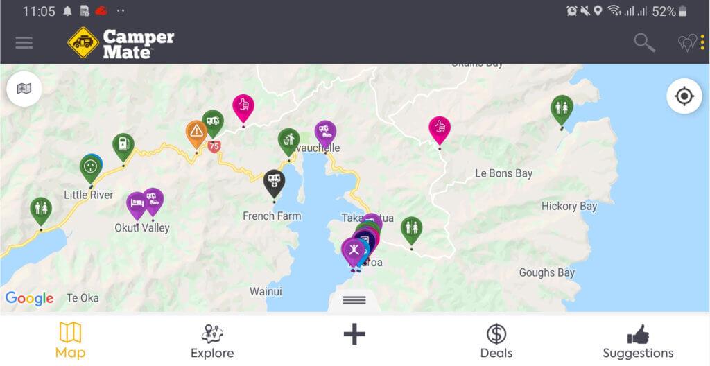 aplicativo para encontrar camping gratuito na nova zelandia e austráia