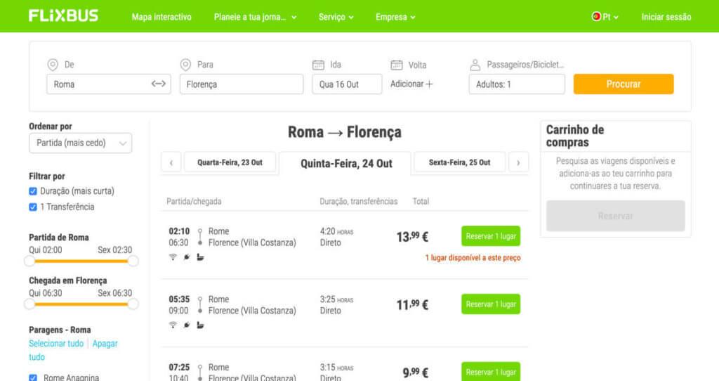 Escolha qual passagem mais combina com o seu planejamento de viajar pela europa de onibus