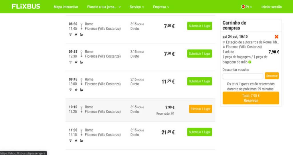 Comprar passagem para viajar de onibus pela europa - Flixbus