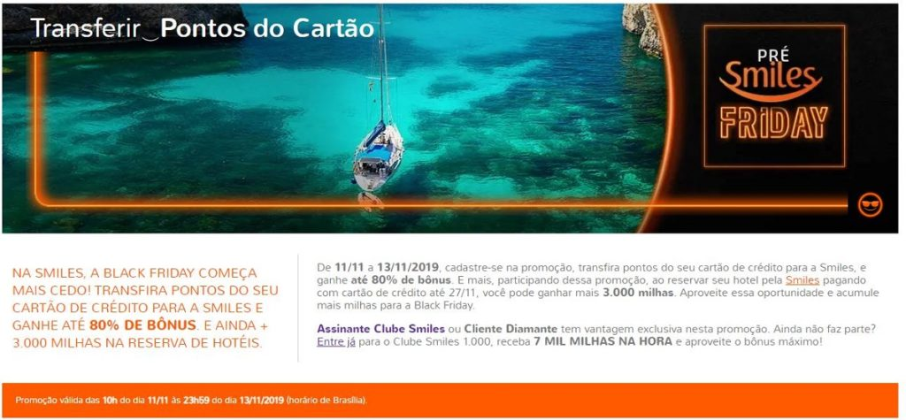 black friday 2019 viagens smiles
