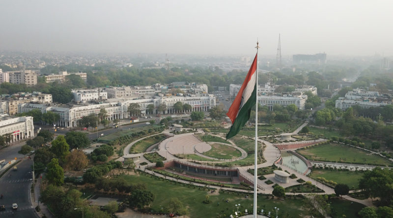 Imagem aérea de Nova Delhi