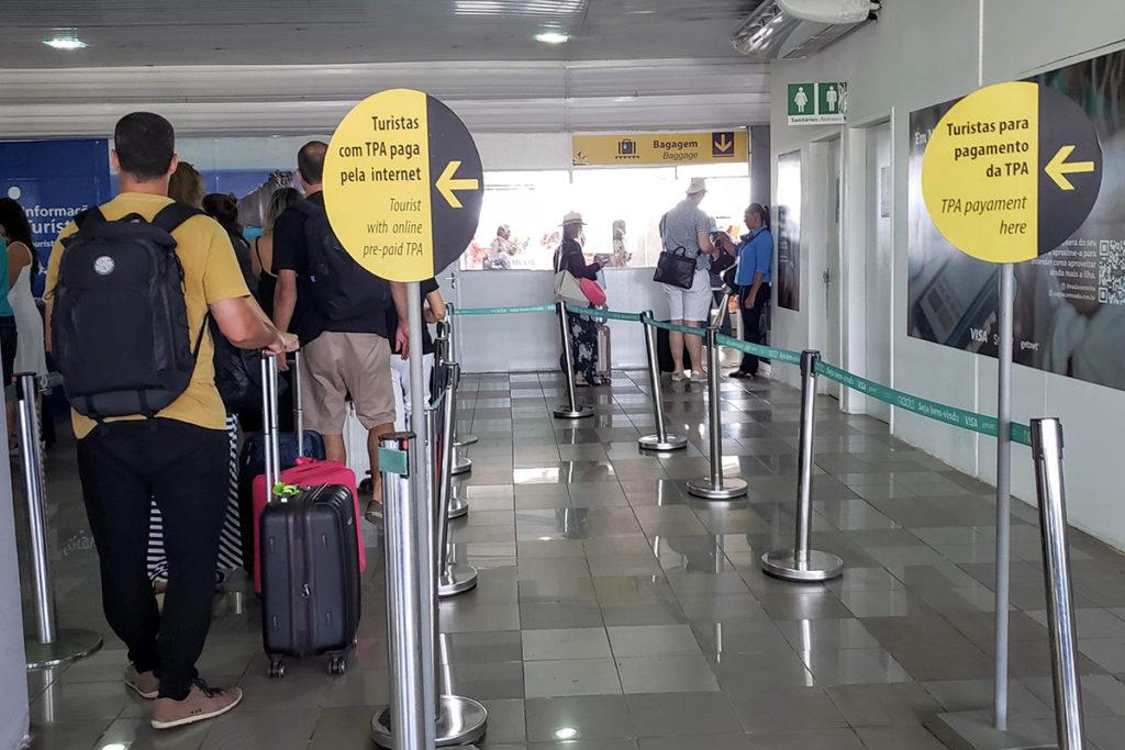 pagamento da tPA no aeroporto - taxas ambientais fernando de noronha