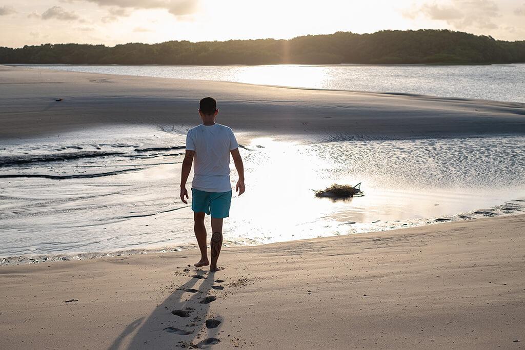 caminhada na ilha de lençóis, maranhao